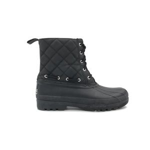 Sperry Black WaterProof Quilt Nylon Boots size 8